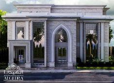 Exterior Design Gallery - Best Villa Exteriors by Algedra Classic House Exterior, Classic House Design, Dream House Exterior, Neoclassical Architecture, Modern Architecture House, Facade Architecture, Islamic Architecture, Modern Houses, Interior Design Dubai