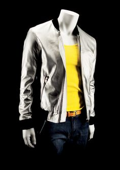 STAGE Collection by More Mannequins #MaleMannequin #headlessmannequin #silverjacket