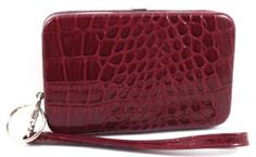 """Mundi Red Cactus Croc Smart Phone Case Wristlet Wallet Mundi. $12.99. Fits smart phone, keys, credit cards and currency. Faux Patent Croco. 5.25"""" x 3.25"""" x 1"""""""