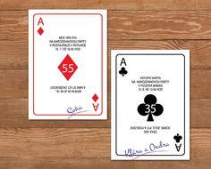 hrací karty - pozvánky na narozeniny