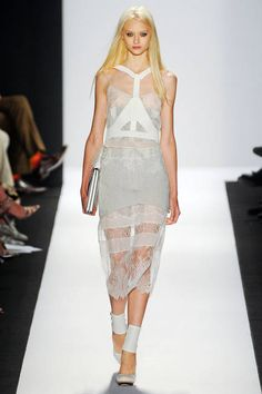 Gray - Softer than stark white and less aggressive than midnight black, gray was a go-to shade on the spring runways.