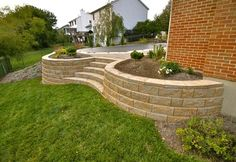 Landscape wall with steps
