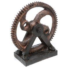Mercury Row Solorio Industrial Style Rusted Gear Décor Sculpture