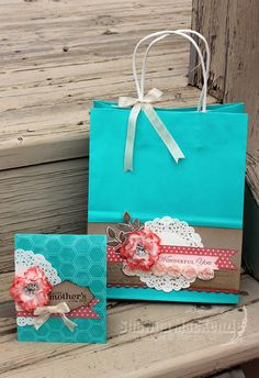 Shawna's Stampin' Spot: Mother's Day Card & Gift Bag