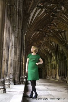 Lucy Worsley photographed in Canterbury's historic cathedral as part of a tour promoting her new book A Very British Murder Dr Lucy Worsley, Canterbury Cathedral, I Love Lucy, Tudor, Editorial Photography, Archaeology, Pretty Woman, Haircuts, Haircut Styles