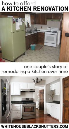 one couple's story (and tips!) on how to afford a kitchen remodel when you don't have the funds.