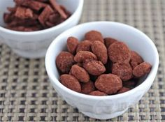 Cocoa Dusted Dark Chocolate Covered Almonds © Jeanette's Healthy Living