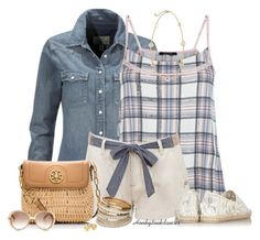 Plaid Cami, Polyvore, fashion, style, Brave Soul, Valentino, Tory Burch, Miss Selfridge, Gucci and Levi's. Summer outfits. Summer. Fashion for women over 40.