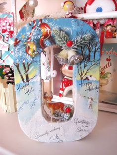 """J""""O""""Y How to use Modge Podge with vintage greeting cards/ tutorial link"""
