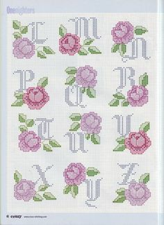 Alfabeto con  rose