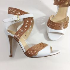 NEW IVANKA TRUMP white tan sandals 9 Details and pics coming. Please like for first notification of price reduction. Ivanka Trump Shoes Sandals