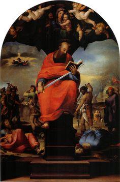 Saint Paul en trône - Domenico Beccafumi