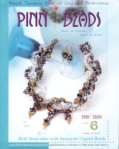 Pinn beads - Alexia Mahob - Álbumes web de Picasa Book Crafts, Hobbies And Crafts, Craft Books, Magazine Beads, Swarovski Crystal Beads, Beading Patterns, Birthstones, Beaded Jewelry, Jewelry Making