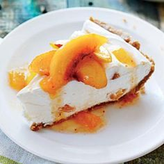 No-Bake Peach Pie | CookingLight.com