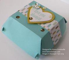 Make a Gift Box with the Stampin' Up! Hamburger Die