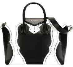 aa1e1e45c65 Givenchy Medium Antigona Brogue Black/White Satchel. Save 22% on the Givenchy  Medium. Tradesy