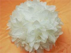 Dahlia Kissing Ball White. Check it out at our online store http://www.diamondsandstelioevents.com.au/