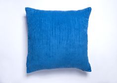 A Large Royal Blue cushion Cover. + Free postage and returns. Available in 19 other colours. Link to shop in bio. Blue Cushion Covers, Striped Cushions, Royal Blue, Colours, Throw Pillows, Link, Shop, Free, Toss Pillows