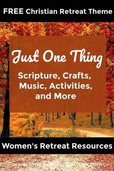 We can lose sight of following where God is leading us. Instead, let's focus on Just One Thing that helps us remember how thankful we are for Him. #womensministry #retreattheme Christian Retreat, Christian Living, Christian Life, Christian Women's Ministry, Wait Upon The Lord, Light Of Christ, Christian Resources, Christian Devotions, Romantic Love Quotes