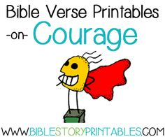 Courage Bible Verses for Kids