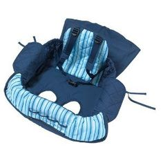 Eddie Bauer Shopping Cart Cover Protection Blue & White Striped Baby Boy Toddler