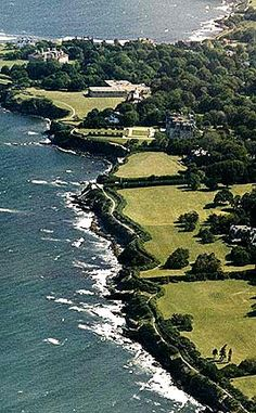 Newport, RI's Cliff Walk combines ocean views, mansions, and a rocky shore line into a 3.5 mile Federally listed Recreational Walk.