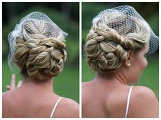 More definition to the side bun by the ear Blonde Updo, Curly Hair Updo, Hair Dos, Curly Hair Styles, Homecoming Hairstyles, Bride Hairstyles, Wedding Hair And Makeup, Hair Makeup, Hair Wedding