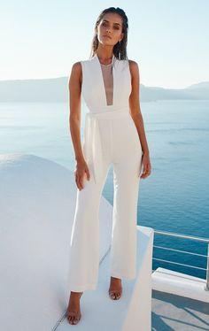 f7af2163396 Deep V Mesh Patchwork Belted Slim Jumpsuit