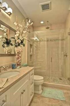 65 Small Master Bathroom Remodel Ideas on A Budget - Bathroom Remodel Ideas, Diy Bathroom Vanity, Downstairs Bathroom, Budget Bathroom, Master Bathroom, Bathroom Ideas, Bathroom Remodeling, Bathroom Closet, Master Closet, 1950s Bathroom