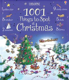 Usborne 1001Things to Spot at Christmas by Alex Frith c2009, NEW Hardcover