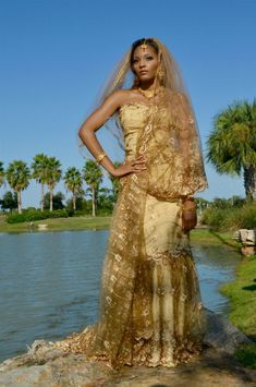Representing Queen Mumtaz Mahal of India Gown