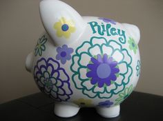 flower-full Piggy bank