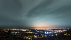 CityScape - Night shot of Zagreb from beautiful Samobor hills