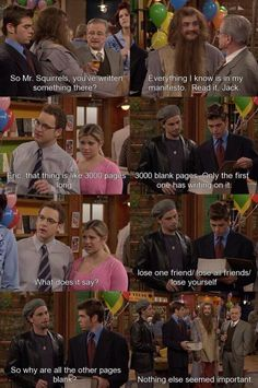 Boy Meets World- has one of my favourite quotes, lose one friend- lose all friends - lose yourself.