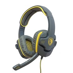SADES Stereo Gaming Headphone Headset SA708 Earphone Bass with Microphone Yellow  FREE GIFT Velcro cable ties With eTopxizu LOGO ** To view further for this item, visit the image link.