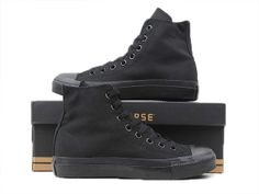 I actually really like these all black high tops, I'm not usually into these but I actually do like these ones