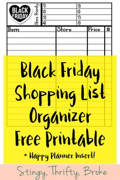 Make sure to grab this Black Friday shopping list organizer! Great free printable + it comes in Happy Planner size!