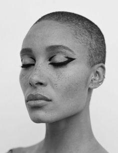 Adwoa Aboah photographed by Thurstan Redding for Love Magazine Hair: Guido Palau Makeup: Pat McGrath Makeup Goals, Makeup Inspo, Makeup Art, Makeup Inspiration, Beauty Makeup, Eye Makeup, Hair Makeup, Hair Beauty, Beauty Art