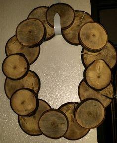 Wood Disk Wreath