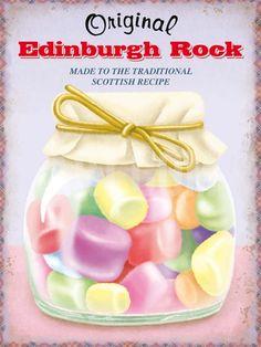 Edinburgh Rock Tin Sign at Art.co.uk