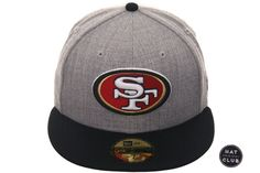 reputable site 9adf8 a6103 Hat Club Original New Era 59Fifty San Francisco 49ers Fitted Hat - 2T  Heather Gray,