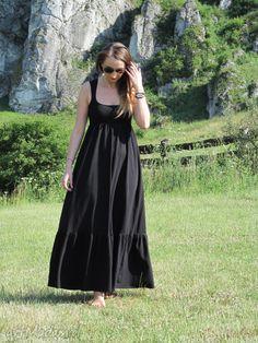 • sukienki - 54dł długa dzianinowa sukienka - LaLu sukienki