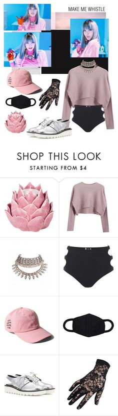 """Blackpink #Lisa"" by ooyxng ❤ liked on Polyvore featuring Seed Design, Zara Home, Chicnova Fashion, MINKPINK, STELLA McCARTNEY and Black"
