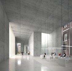 The Strand Quadrangle: King's College London Architectural Competition Concrete Architecture, Space Architecture, Architecture Drawings, Contemporary Architecture, Architecture Diagrams, Architecture Portfolio, Architecture Visualization, 3d Studio, Interior Rendering