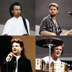#LiveAid 30 years ago #U2 #TheEdge #AdamClayton #Bono #LarryMullenJr #LiveAid30 #London #U2LiveAid #BiggestBandInTheWorld