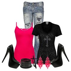 A fashion look from December 2012 featuring BKE tops, 1921 jeans and Wild Pair pumps. Browse and shop related looks. Fashion 101, Fashion Beauty, Girl Fashion, Fashion Outfits, Womens Fashion, Fashion Design, Fashion Ideas, Stylish Outfits, Cool Outfits
