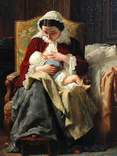 Corot, Camille (French, 1796-1875) - Mother and Child - c 1860
