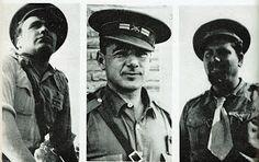 Spain - 1936-37. - GC - LA BATALLA DE BRUNETE  El Mayor Líster, el Teniente Coronel Galán y el Mayor Valentía González (El Campesino), que mandaban las Divisiones 11, 34 y 46.