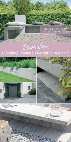 Diy Gartenbank Mit Beton Und Holz Garten Pinterest Garden