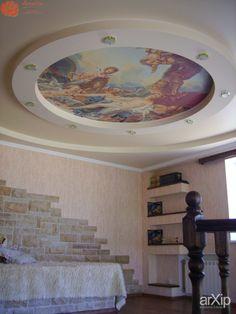 Натяжной потолок с фотопечатью: интерьер, строительство, квартира, дом, гостиная, современный, модернизм, потолок, 20 - 30 м2, оформление интерьеров